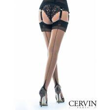 CERVIN TENTATION Bicolore 15den, Gr. 5 Gazelle-Noir, Fully Fashioned Stockings