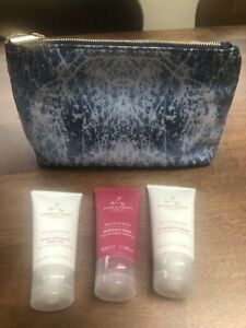 Aromatherapy Associates The Power Of Rose Travel Bag, Body Wash, Body Gel and Bo