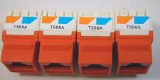 Mixed Lot of 17 Ortronics OR-KS5EA-36 ORTJ5E00-43 CAT 5e Keystone TracJack Plus