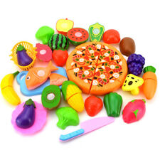 EG_ FRUIT VEGETABLE PIZZA PRESCHOOL KID ROLE PLAY KITCHEN CUTTING TOY GIFT HONES