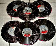 6 Tonbänder / auf Bobbie gewickelt / 25cm
