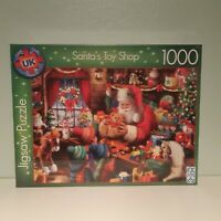 SANTA'S TOY SHOP 1000 Piece Deluxe Jigsaw. Perfect Christmas Gift! New & Sealed.