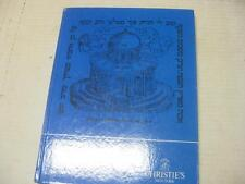 CHRISTIE'S CATALOG Hebrew printed books : duplicates from the Library of The Jew