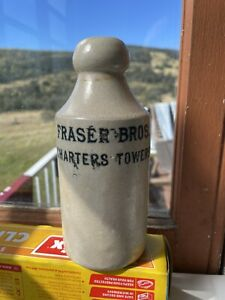 Fraser Bros Charter Towers North QLD Stone Ginger Beer Collectable Bottle