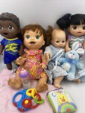 Lot of Baby Dolls Baby Alive Sarah Luke Asian Madame Alexander Victoria