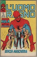 L' UOMO RAGNO corno # 88 SENZA MASCHERA hulk dottor strange