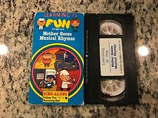 LEARNING IS FUN MOTHER GOOSE MUSICAL RHYMES RARE VHS KIDS SING ALONG EDUCATIONAL