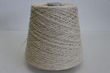 L20 500g SEIDE / SCHURWOLLE NATUR (3) Wolle Zwirn Strick Garn