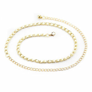 Metal Chain Belt with Pearl beads Ladies Waist Charm Belt - One Size Fits All