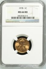 1978 Lincoln Cent NGC MS 66 RD