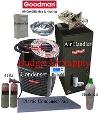 3.5 ton 14 SEER Goodman Heat Pump GSZ14042+ARUF43C+tx+FLUSH+410+50ft INSTALL KT