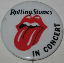 """The Rolling Stones In Concert Logo Tour Pin Approx 1.75"""" Has Spots"""