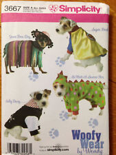 Simplicity 3667 Woofy Wear Dog Clothes Costumes Pattern