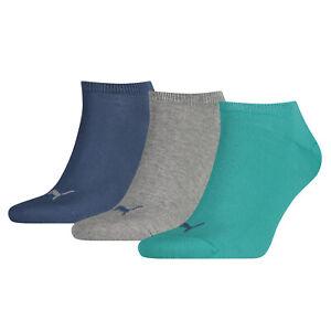 PUMA Sports Socks UK 2.5-5 Boys Womens Fashion Trainer Sneakers (3 Pair Pack)