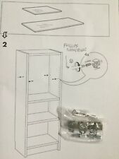 IKEA BILLY BESTA Bookshelf Glass Shelf Mounting Bracket Set of 4 & Instructions