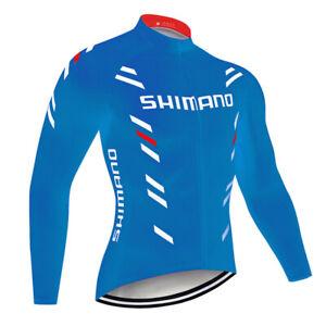 2021 Men's Cycling Jersey Long Sleeve Bike Tops Bicycle Shirts Maillots Jacket