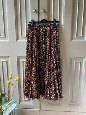 Extremely Rare Whistles Pleated Carrie Skirt - Leopard Print Size 8 RRP £150