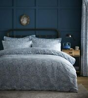 Portfolio Cornflower Duvet Cover Set Cotton Bedding Set Jacquard Blue