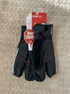 Specialized Element 3.0 Gloves/ Wind Proof/ Winter/ Black/ Brand New Never Worn