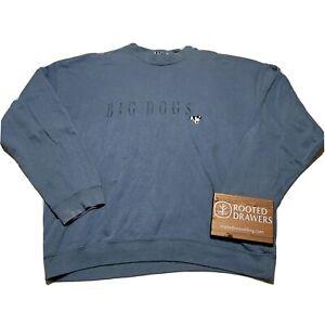 Vintage Big Dogs Unisex Blue Crewneck Embroidered Logo Pullover Sweatshirt Small
