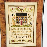 LITTLE HOUSE NEEDLEWORKS Acorn Hill Cross Stitch Chart No. 46 Sampler Home