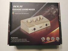 NKR N-3 Karaoke Microphone Sound Mixer Black NEW