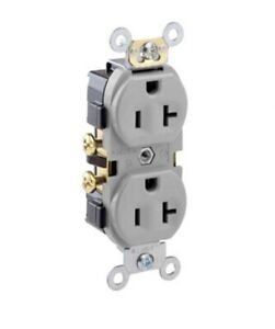 (10 Pack) Leviton CR20-GY 20A 125V Duplex Receptacle Grey Outlet New Sealed