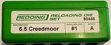 80446 REDDING 2-DIE FULL LENGTH 6.5 CREEDMOOR DIE SET - BRAND NEW - FREE SHIP