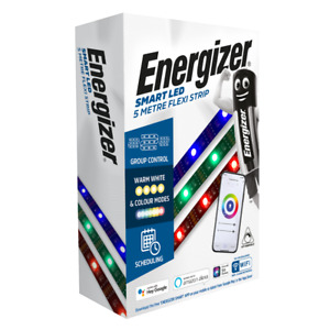 Energizer Smart IP65 LED Dimmable RGB Colour Changing Flexi-Strip Light - 5m