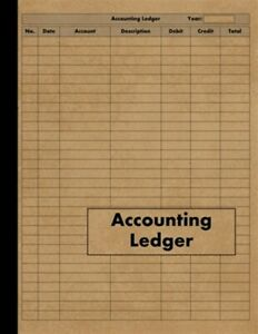 Accounting Ledger: Large Simple Accounting Ledger Book for Bookkeeping and Sm...