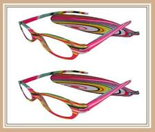 Mr.Reading Glasses [+3.00] 2 Plastic Frame Fashion Design Matching Pouch 3.00