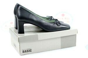 Paco Herrero Leather Blue Court Shoes UK Size 6 BNWB