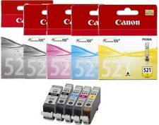 Canon Original PGI-520 BLACK CLI-521 BLACK CYAN MAGENTA YELLOW  5 Ink Bundle