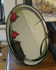 Decorative stained glass   dressing table mirror