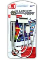 3 in 1 Universal USB Ladekabel | Apple Iphone IPad | Samsung | Handy Ladegerät