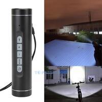 Wireless Bluetooth Speakers Music Torch Bike Support TF FM Flashlight Waterproof