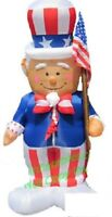 HALLOWEEN JULY 4TH PATRIOTIC MEMORIAL DAY UNCLE SAM FLAG INFLATABLE AIRBLOWN 8.5