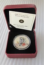 2008 Canada 25 cents Woodpecker coin Special Strike in Color