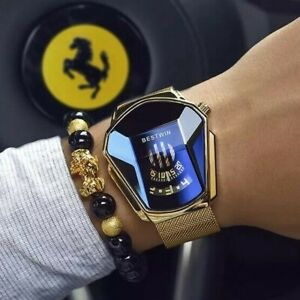 Luxury Fashion Trend Sports Men's Watch Casual Steel Band Black Technology Watch