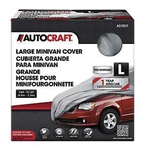 AutoCraft Minivan Cover, Grey, Fits Minivans 16'-17.6' Breathable, Non-Abrasive