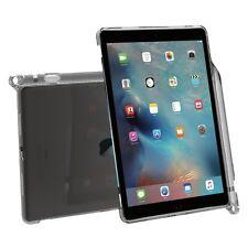 For iPad Pro 9.7 Poetic Stylish Thin TPU Case W/ Pencil Holder Transparent Gray