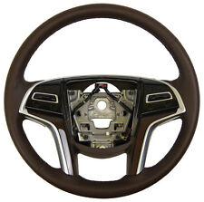 2013 Cadillac SRX Steering Wheel Brown Leather New 22959706 23114538 23186996