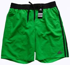 Men's ADIDAS Green Black Athletic Volley Shorts Swim Trunks L Large NWT NEW