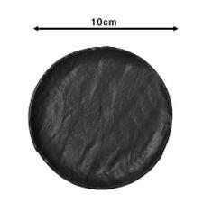 Piattino piano burro 10cm in porcellana nera Saturnia Vulcania