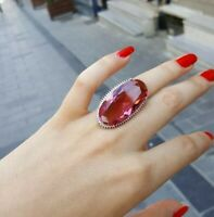 925 Sterling Silver Jewelry Oval Alexandrite Color Changing Lady Ring