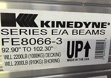 "Kinedyne E/A FF8066 093-102 E Track Shoring Beam 93-102""  E Bar Morgan Supreme"