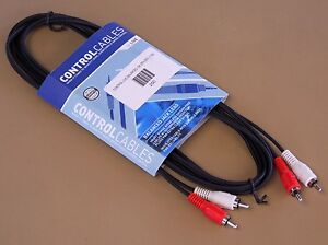 Bag of 10 CONTROL CABLES Dual Phono Lead 3m (10 ft) NEW