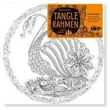 Schnecke Tangle Leinwandrahmen 20x20 Zenmalerei für Stifte Marker Farben