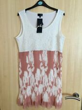 Ladies Bnwt 'ME' Ivory Lace Front Dress Size 16/18 Rrp €99.95