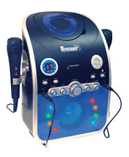 Mr Entertainer CD CDG Party Karaoke Machine Bluetooth Flashing LED Lights KAR120